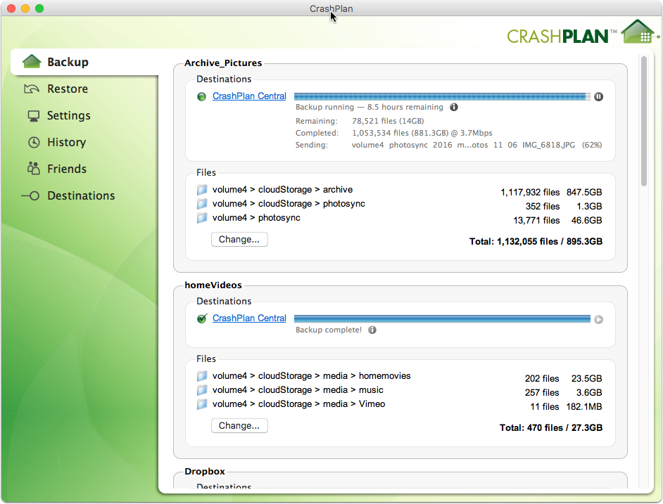 Setup CrashPlan in a Docker Container on Synology | Lots of