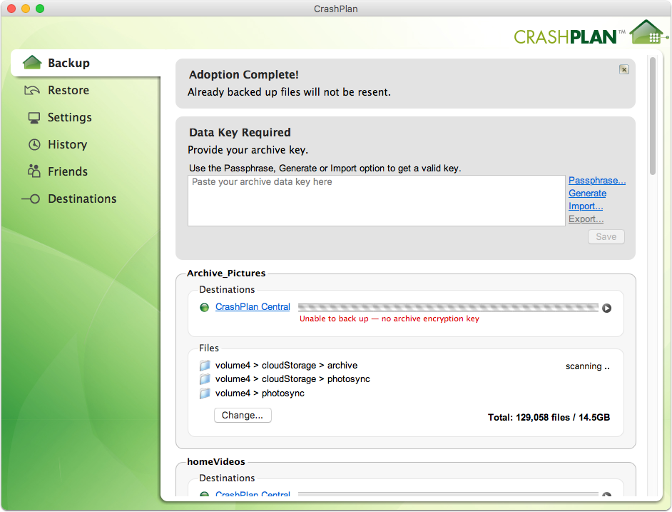 How to Backup My Computer to Synology NAS using CrashPlan ...